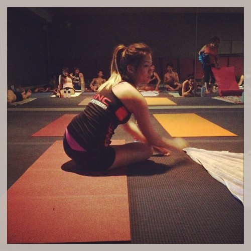Miss flexible #bikram #yoga (at Bikram Yoga)