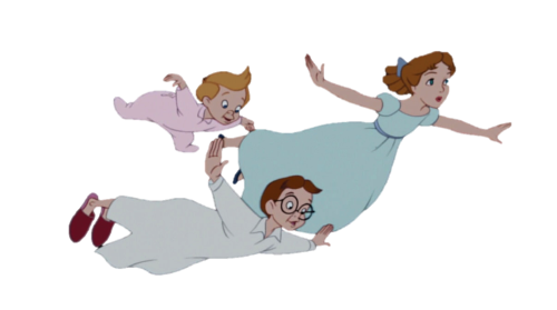 hip-hip-poohray:  Who doesn't want a transparent Wendy, John and Michael flying through their blog?