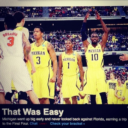 Happy Easter! #michigan #finalfour #marchmadness #goblue
