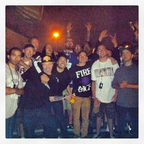 Hotel roof top party. #Downpresser, #TakeOffense, #AlphaAndOmega, #Incendiary, #TheBeautifulOnes #norestnopeace #unitedStatesOfMind #dontneedareason