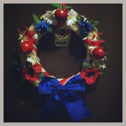 #merica wreath. It will be on our door till at Least September #memorialday #4thofjuly #otherdaysofimportance