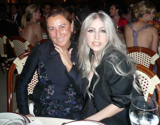heyitsnicola:  GAGA AND MIUCCIA PRADA.  AMEN FASHION