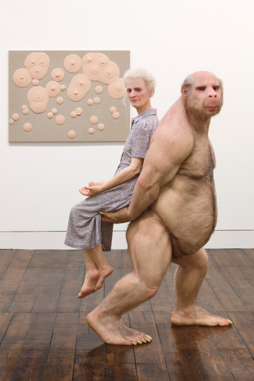 The Carrier Patricia Piccinini fibreglass, silicone, human hair, clothing   all images © Peter Mallet  (via Design Boom)