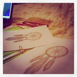 Been busy! #drawings #dreamcatchers #bored