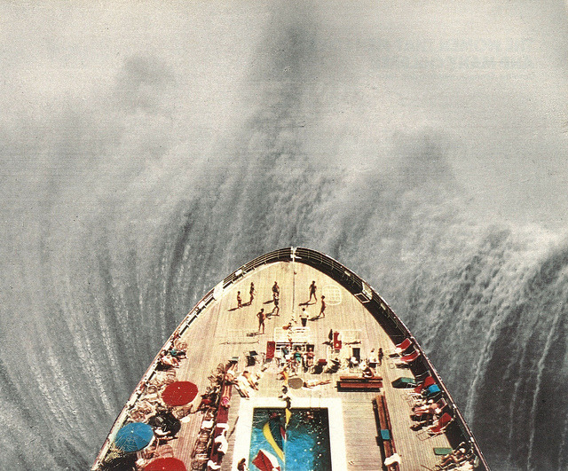 A Great Big Wave (To Wash It All Away) by collageartbyjesse on Flickr.