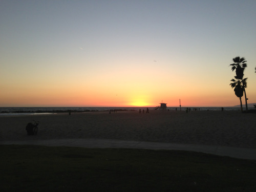 Photo a Day: Photo 121. Venice Beach at sunset. Venice Beach is names after Venice Italy, and was built/ founded as Venice of America in 1905. Venice Beach became a neighborhood of Los Angeles in 1926 after it was annexed.