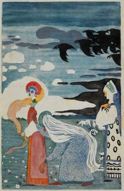 german-expressionists:  Wassily Kandinsky, Les Corbeaus (Crows), 1907