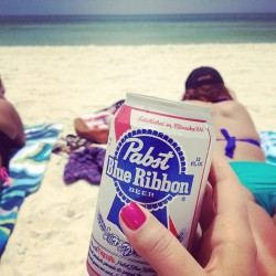 Coolin off. #pcb #pbr #beach #ocean #tanning (at On The Beach)