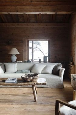 justthedesign:  Cabin Living Room Design By Axel Vervoordt
