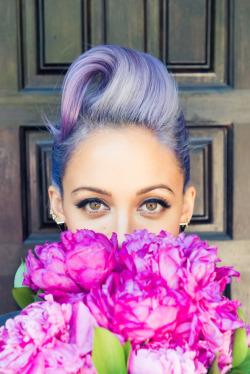 photoshoot hair style Celebs vintage makeup roses nicole richie makeu