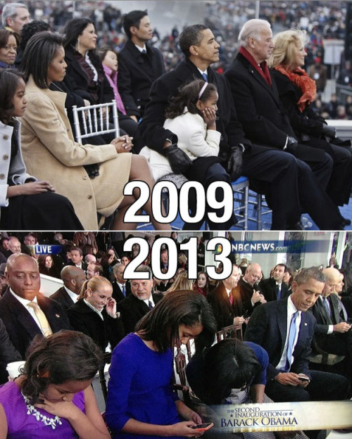 justbeingseriouslysocial:  Technology (to be precise, smartphones) is ruining the world. And that includes the first family of the United States.