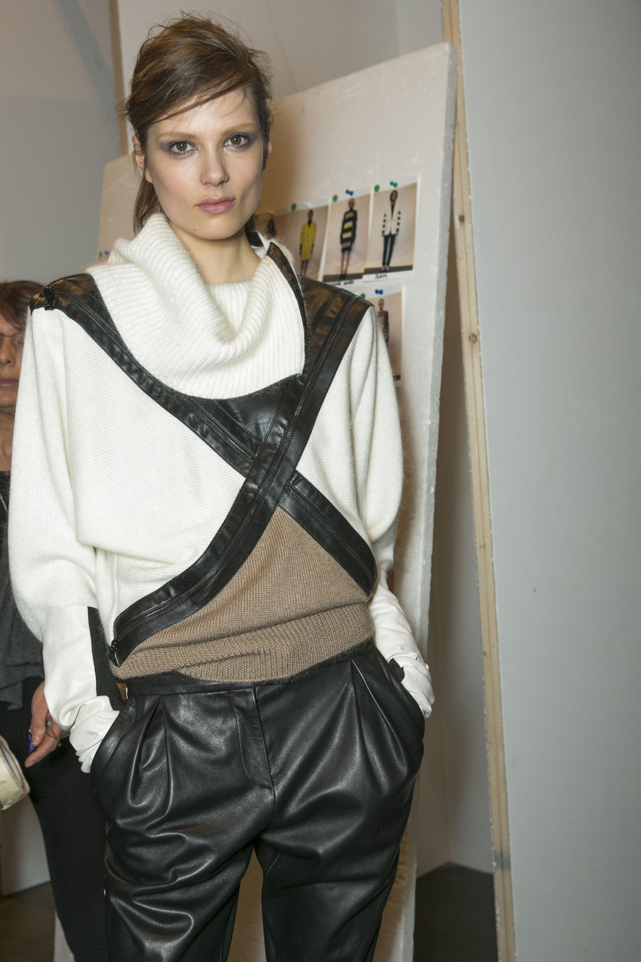 oncethingslookup:  Caroline Brasch Nielsen backstage at Iceberg Fall 2013 RTW