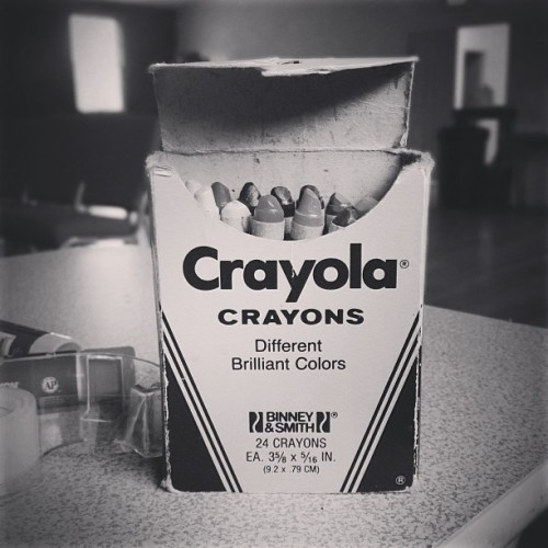 Those are some legit 1985 crayons right there. #crayons #crayola #neato #vintage (at Acworth Church)