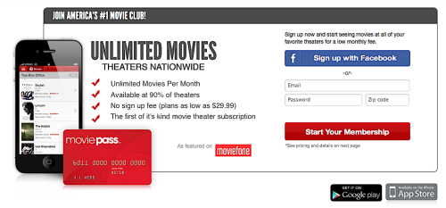 belatedmedia:  moviepass:  Join America's #1 Movie Club, MOVIEPASS! Unlimited Movies per Month Available at 90% of theaters No Sign Up Fee (plans as low as $29.99) The first of it's kink movie theater subscription Sign up now and start seeing movies at all of your favorite theaters for a low monthly fee. (CLICK HERE TO SIGN UP)  Save $10 on a Movie Pass subscriptionEnter Promo code: belatedmediahttp://www.moviepass.com/belatedmediaYou're welcome.  I might actually go to the theatre…