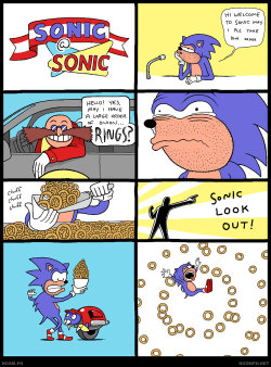 dorkly:  Sonic at Sonic There's no food faster.