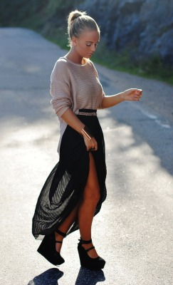 "fashionpassionates:  Get yours: NEW* ASYMMETRIC SHEER SKIRT Shop FP | Fashion Passionates ""get your fashion fix with fashion passionates!"""
