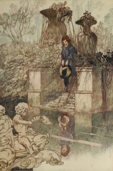 art-and-fury:  Charles Robinson illustration at The Secret Garden by Frances Burnett, 1911