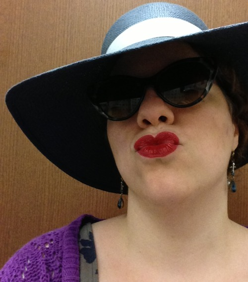 Who's ready for Hat Day at the library? I'm ready for Hat Day at the library. For the record, though, I will not be wearing my sunglasses inside.
