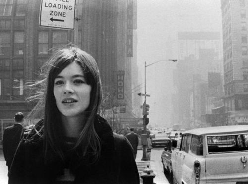 herekitty:  Françoise Hardy, New York City, 1965