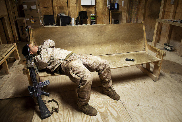 militaryandweapons:  Rest for the Weary by United States Marine Corps Official Page on Flickr.