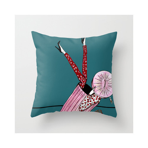 Upps Throw Pillow by Vanessa Datorre | Society6   (clipped to polyvore.com)