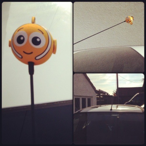 mum bought me a Nemo aerial to go on my car :3