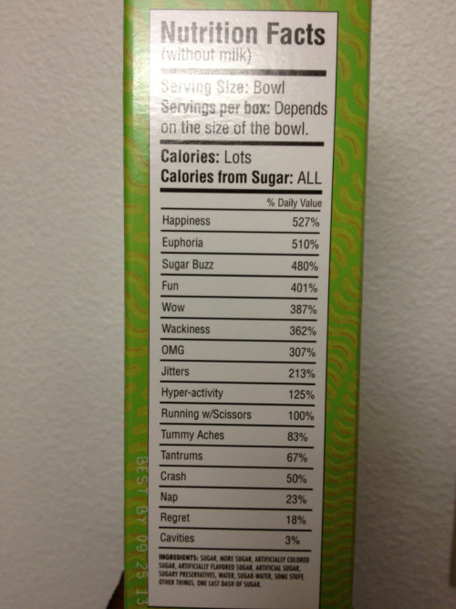 mamakarkat:    cronkri:    karkat—vantass:    chulacabra:    allstarbatmanny:    My roommate got sent a 2.5 pound box of sour gummy worms and these are the nutrition facts.    running w/ scissors    the ingredients though             no regrets
