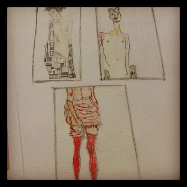 #egonschiele#art#inspirations#velliosschoolofart#fashion#drawing#moood#backtoschool#potrait