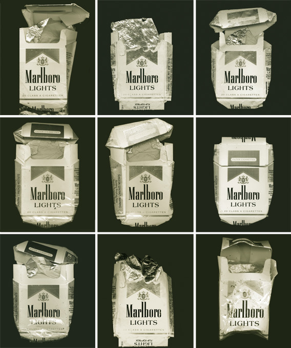 Typology of Marlboro Lights. Photography by Chris Harris.
