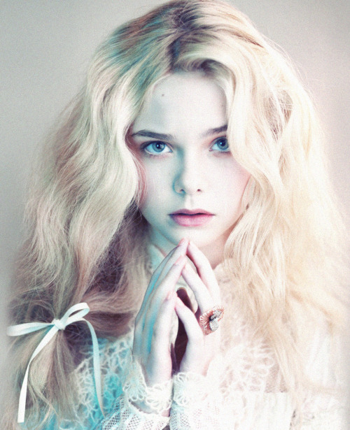 "stopdropandvogue:  Elle Fanning in ""Angels and Demons"" for LOVE #6 photographed by Mert and Marcus"