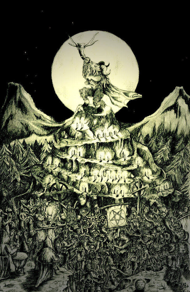 "madmothmiko:  The Horn of Baphomet  Baphomet (/ˈbæfɵmɛt/; from medieval Latin Baphometh, baffometi, Occitan Bafometz) is a supposed pagan deity (i.e., a product of Christian folklore concerning pagans), revived in the 19th century as a figure of occultism and Satanism. It first appeared in 11th and 12th century Latin and Provençal as a corruption of ""Mahomet"", the Latinisation of ""Muhammad"", but later it appeared as a term for a pagan idol in trial transcripts of the Inquisition of the Knights Templar in the early 14th century. The name first came into popular English-speaking consciousness in the 19th century, with debate and speculation on the reasons for the suppression of the Templars. Since 1855, the name Baphomet has been associated with a ""Sabbatic Goat"" image drawn by Eliphas Lévi. It represents the duality of male and female, as well as Heaven and Hell or night and day signified by the raising of one arm and the downward gesture of the other. It can be taken in fact, to represent any of the major harmonious dichotomies of the cosmos. However, Baphomet has been connected with Satanism as well, primarily due to the adoption of its symbol by the Church of Satan."