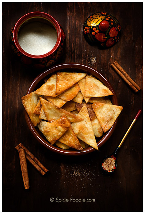 cinnamon sugar tortilla chips !