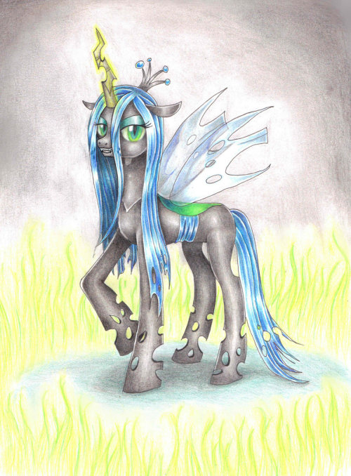 theponyartcollection:  Queen Chrysalis by ~Evomanaphy