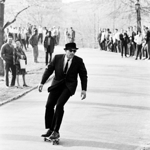9gag:  Skateboarding in NYC in the 1960s… Like a Sir!