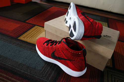 sneakerphotogrvphy:  University Red/Black-Metallic Gold-White Nike Lunar Flyknit Chukka by Daniel Washington on Flickr.