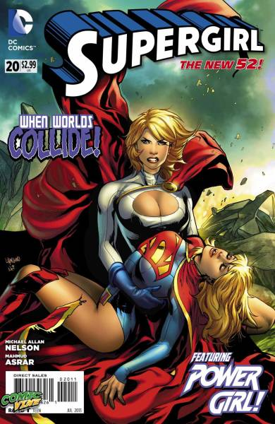 Comic Vine has a preview of Supergirl #20 featuring Power Girl written by Michael Alan Nelson, with art by Mahmud Asrar, and a cover by Emanuela Lupacchino.