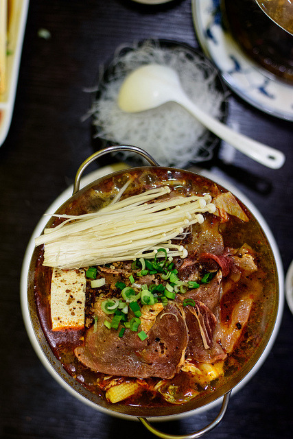 taiwanesefood:  Spicy Beef Hot Pot by macabrephotographer on Flickr.