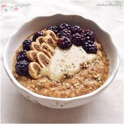 food fitblr health diet coffee breakfast yummy fruit delicious fitness weightloss oatmeal oats muesli porridge
