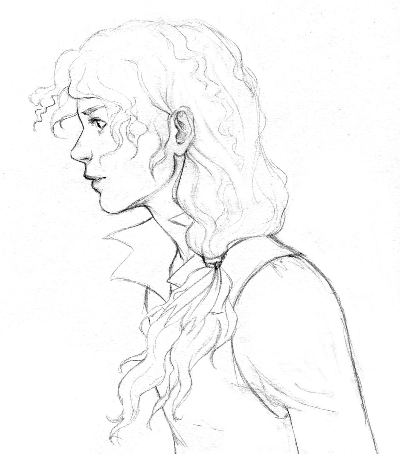 elnawen:  Old drawing of Enjolras to say I'M STILL ALIVE I COME BACK IN TWO WEEEEKS and I love you, dear followers!