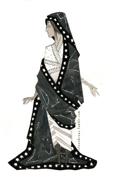 steendraws:  The Star Teller. Ink and pencil.  Steen.