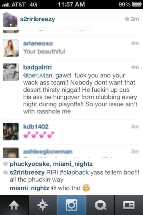 "Rih about JR Smith, so much about rumors, we love to say ""told ya"""