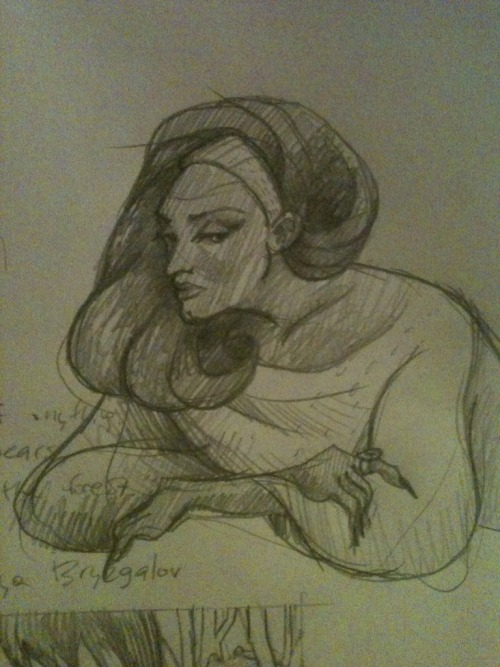 Was sketching sassy ladies, ended up drawing Jackie Brown.