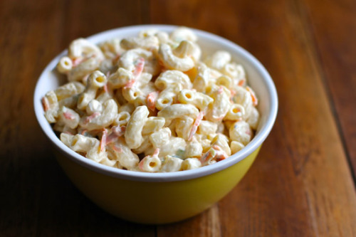 hawaiian macaroni salad: recipe here