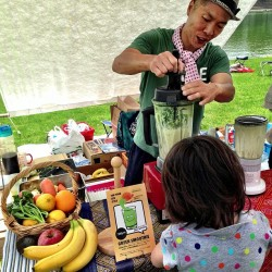 The green smoothies at Green Ground Market, quite sweet, a good...