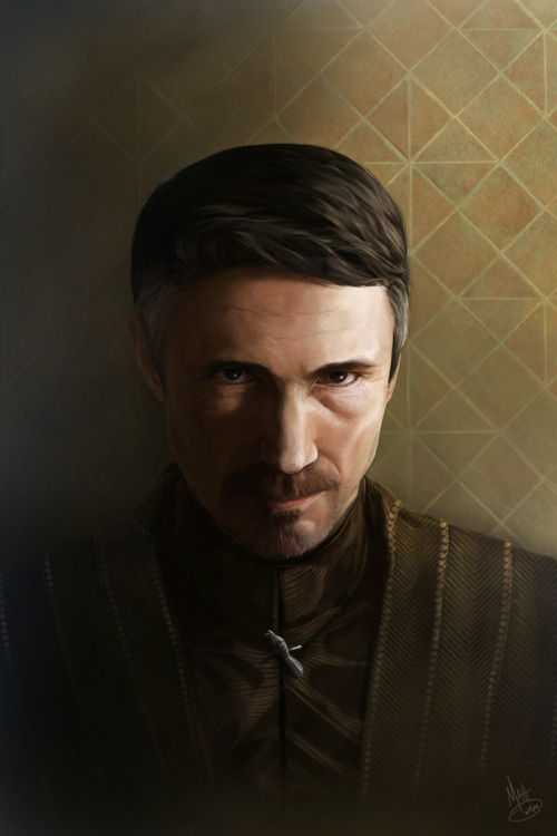 "mattdemino:  Lord Petyr Baelish ""Littlefinger"" - Game of Thrones fan art Prints available: www.society6.com/MattDeMino"