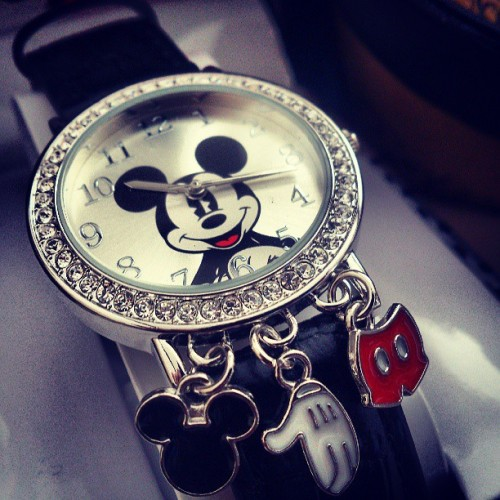 My #amazing #Disney #watch #love #beautiful #Mickeymouse #Mickey #time #charms #perfect #thebest #WaltDisney #waltdisney1901 #present #gift #sparkly #diamonds #shiny