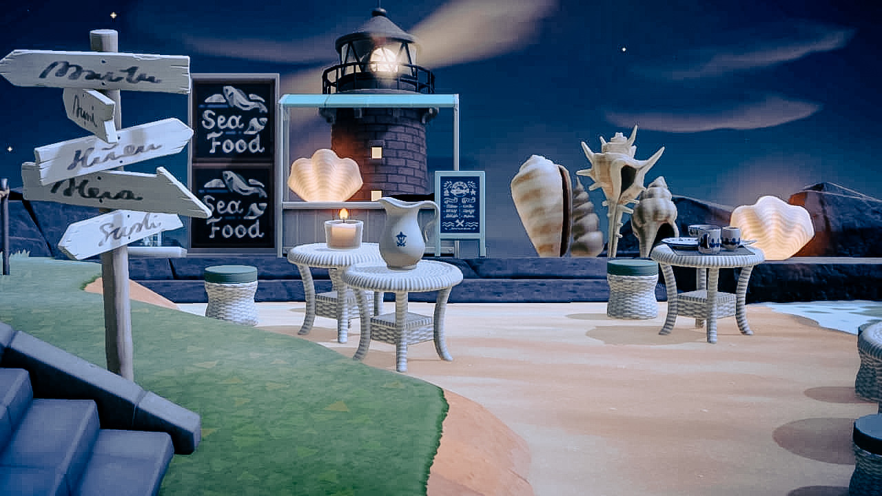 Miss Acnh My Seafood Restaurant During Sunset And By Night