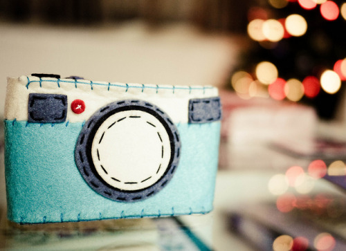 My lovely little felt camera :) by Helen Ogbourn on Flickr.