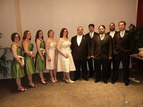 The whole wedding party shebang.