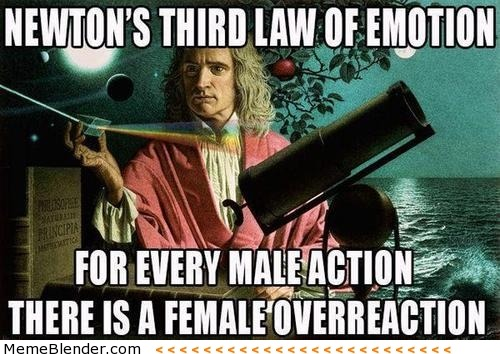 memeblender:  Newton's Third Law of Emotion
